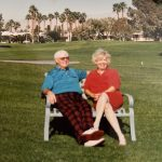 Mom and Dougie at their home in Palm Desert