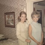 Charlotte and my mother at her wedding to Allan Stubbs