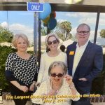 My sister, April, Jonathan and me with my mother on Mother's Day at The Jewish Home